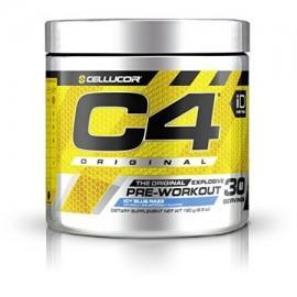 Suplemento Cellucor C4 Pre-Entrenamiento con nitrato de creatina y beta alanina azul helado Razz 30 Conde