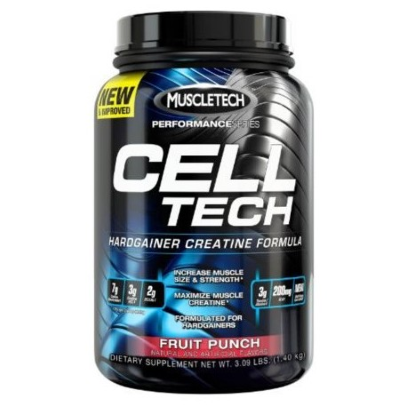 MuscleTech Tech Cell Hardgainer creatina Fórmula ponche de frutas 309 lbs (14 kg)
