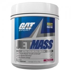 GAT Jetmass de acción rápida masa negra para dar volumen creatina Jet cereza 30 porciones