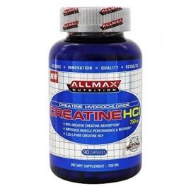 ALLMAX creatina HCl Suplemento dietético para hombres y mujeres 750 mg 90 Conteo