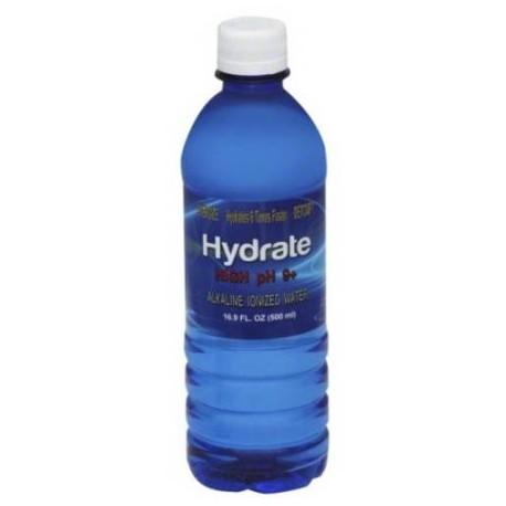 Hydrate pH alto 9- agua ionizada alcalina 169 fl oz (paquete de 24)