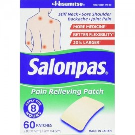 Parches para aliviar el dolor 60 unidades buque de EE.UU. marca Salonpas