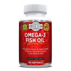Las píldoras de aceite omega 3 de pescado burpless Blend 60 Cápsulas
