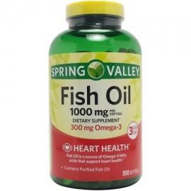 Spring Valley Aceite de Pescado de los Suplementos Dietéticos 1000 mg 300 recuento