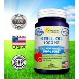 Pure w Krill Oil 1000 mg - astaxantina -amp- Omega 3 XL (200 Cápsula suplementos) Sourced Rich antártico en DHA y EPA y fosfol