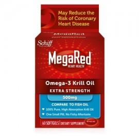 MegaRed Extra Strength 500 mg de Omega-3 Aceite de Krill 60 cápsulas blandas