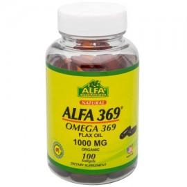 Alfa Omega 369 Cápsulas Blandas aceite de lino 1000 100 ct