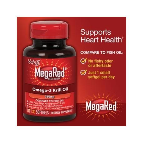 Schiff MegaRed 350 mg omega-3 Krill Oil Softgels 130 Ct