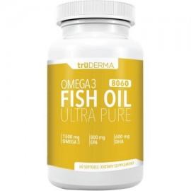 Truderma 3 Aceite de Pescado Omega 8060 EPA DHA textuales 60 conteo