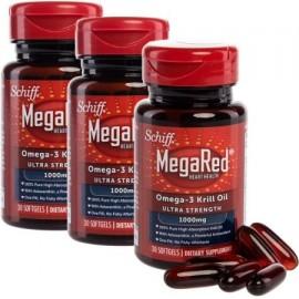 Schiff MegaRed 90 Conteo suplemento de omega-3 krill antártico cápsulas de aceite 1000mg dietética