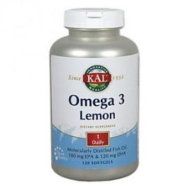 Kal - pescado Omega 3 180-120 Softgel Limón (BTL-plástico) 1070mg 120ct