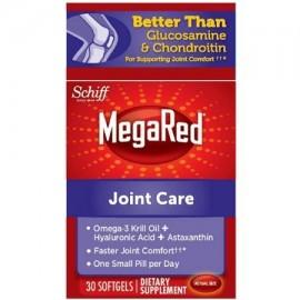 4 Pack - MegaRed Atención Conjunta Omega 3 Aceite de Krill Suplemento Ácido Hyalyronic y astaxantina conjunta 30 ct