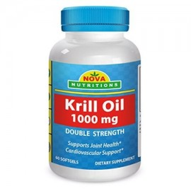 Nova Nutritions Krill Oil 1000 mg 60 Softgels