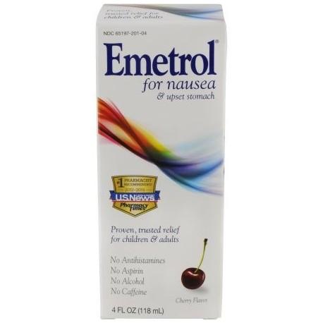 Emetrol Cereza Líquido Sabor para las náuseas y alivio de dolor de estómago 4 fl oz