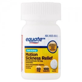 equate Movimiento enfermedad Relief Tablets 100 ct