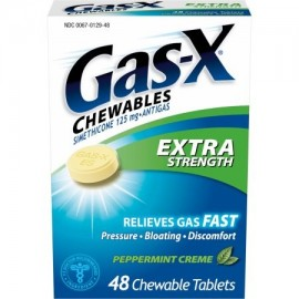 Gas-X masticables Extra Strength Gas Relief Creme tabletas masticables de menta 48 ct