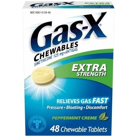 Gas-X masticables Extra Strength Gas Relief Creme tabletas masticables de menta 48 ct