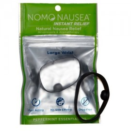 NoMo Nausea alivio instantáneo grandes Negro aromaterapia Bandas contra las náuseas con acupresión