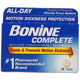 Bonine Movimiento enfermedad de protección tabletas masticables 16 comprimidos náuseas