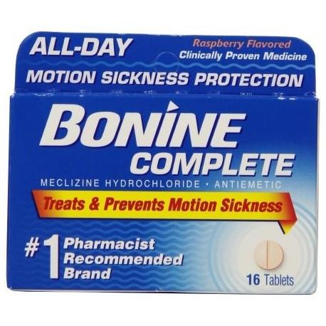 Bonine Movimiento enfermedad de protección tabletas masticables 16 comprimidos náuseas (3 Pack)