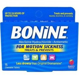Bonine Movimiento enfermedad de protección tabletas masticables 16 comprimidos náuseas (paquete de 4)