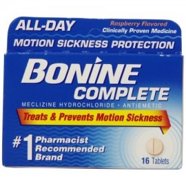 Bonine la enfermedad de movimiento Protección tabletas masticables 16 comprimidos náuseas
