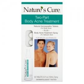 Nature's Cure Dos Partes tratamiento del acné del cuerpo para hombres y mujeres