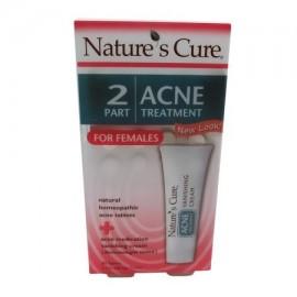 Natures Cure de dos componentes para mujer Tratamiento del acné - 1 kit paquete de 2