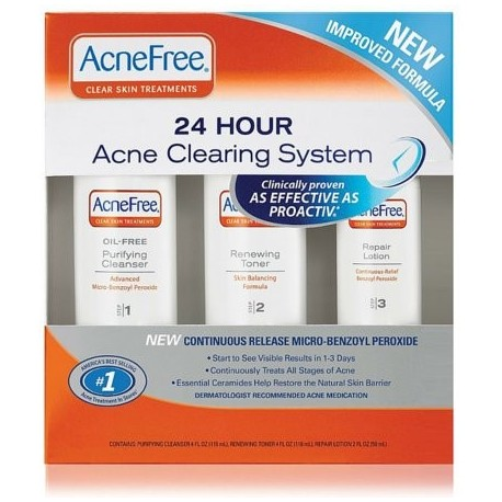 AcneFree 24 Hour Acne Clearing System 1 kit (Pack of 2)
