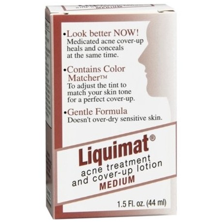 6 Pack - Liquimat tratamiento del acné y encubrimiento Loción Medio 150 oz