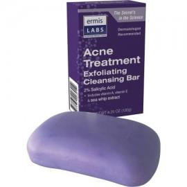 Ermis Labs Tratamiento del acné Leche Limpiadora Bar 425 oz 6 recuento