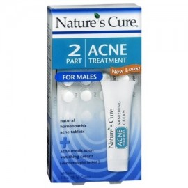 Nature's Cure 2 Part Acne Treatment for Males 1 Each