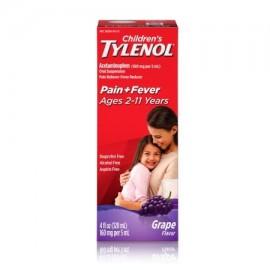 TYLENOL ® suspensión oral de los niños reductor de la fiebre y Analgésico uva 4 fl oz