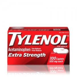 TYLENOL ® Caplets Extra Strength reductor de la fiebre y Analgésico 500 mg 100 ct.