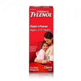 TYLENOL ® suspensión oral de los niños reductor de la fiebre y Analgésico cereza 4 fl oz