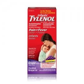 TYLENOL Suspensión Infants' ® Oral reductor de la fiebre y Analgésico Uva 2 fl oz