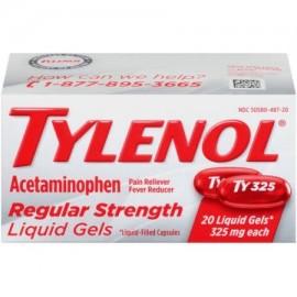 TYLENOL ® geles fuerza Regular líquidos reductor de la fiebre y Analgésico 325 mg 20 ct.