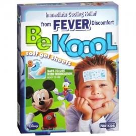 Be Koool Hojas de gel para niños Fever 4 Cada (paquete de 6)