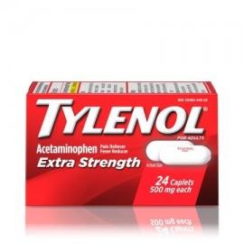 TYLENOL ® Caplets Extra Strength reductor de la fiebre y Analgésico 500 mg 24 ct.