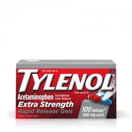 TYLENOL ® cápsulas de liberación rápida fiebre reductor y Analgésico 500 mg 100 ct.