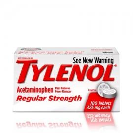 TYLENOL ® Tabletas fuerza regular reductor de la fiebre y Analgésico 325 mg 100 ct.