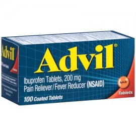 Advil analgésico - reductor de la fiebre Tableta recubierta 200 mg de ibuprofeno un alivio temporal del dolor (100 COUNT)