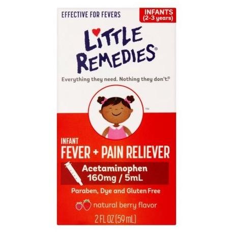 La fiebre por pequeños Little Remedies Berry infantil fiebre y Analgésico Líquido 2 fl oz