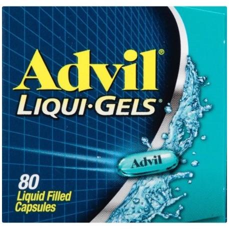 Advil Liqui-Gels analgésico - reductor de la fiebre Cápsula rellena de líquido 200 mg de ibuprofeno un alivio temporal del do