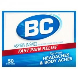 BC Dolores de cabeza - cuerpo de molestias y fiebre aspirina analgésico - reductor de la fiebre Polvos 50 ct