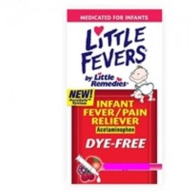 Little Fevers infantil Fiebre - analgésico acetaminofeno uva (4 onzas Pack de 2)