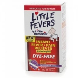 Little Fevers Infant Fever - Analgésico acetaminofeno Grape 2 oz (Pack de 3)