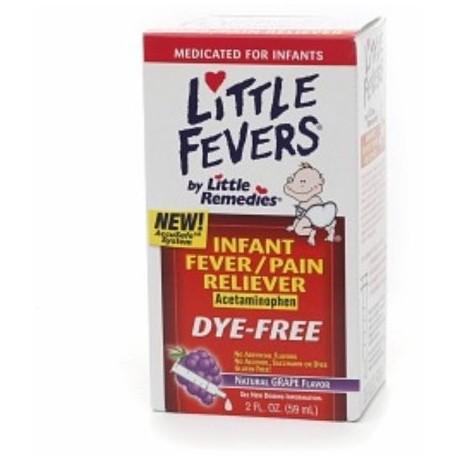 Little Fevers Infant Fever - Analgésico acetaminofeno Grape 2 oz (Pack de 3)