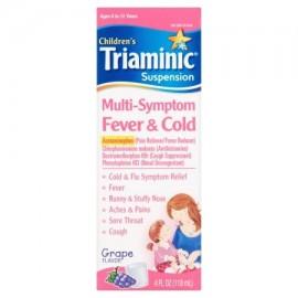 Triaminic infantil fría Alivio Multi-Symptom fiebre y frío jarabe sabor a uva 40 fl oz
