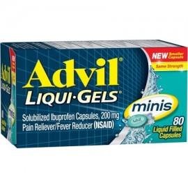 Advil Liqui-Gels minis analgésico - reductor de la fiebre Cápsula rellena de líquido 200 mg de ibuprofeno un alivio temporal